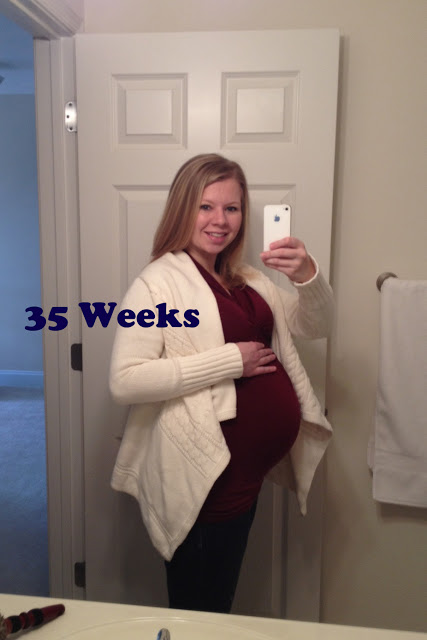 35 weeks pregnant belly