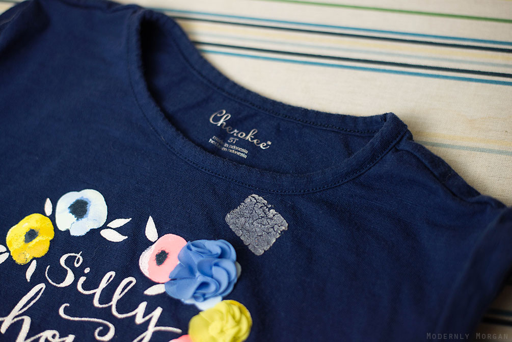 How to Remove Sticker Residue on Clothing - even after washing and drying! I've saved a handful of my daughter's shirts this way!