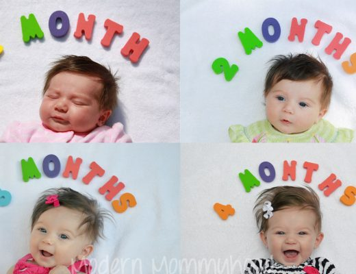 Baby Growth Photos Month by Month