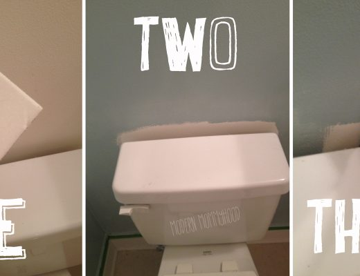 How to paint that pesky area behind the toilet