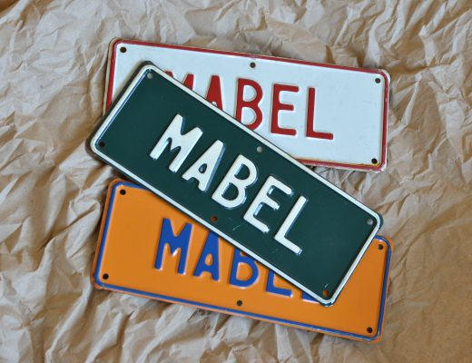 vintage name license plates Mabel