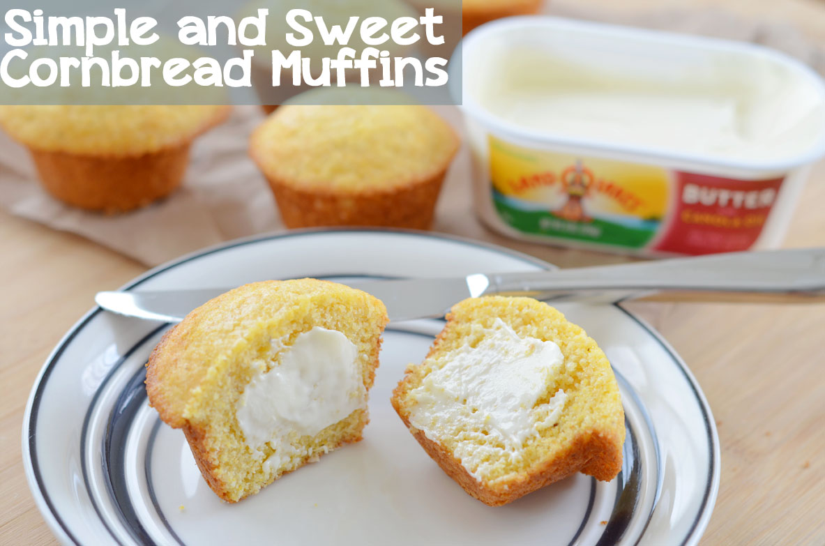 Simple and Sweet Cornbread Muffins @ModernMommyhood #3SI #spon