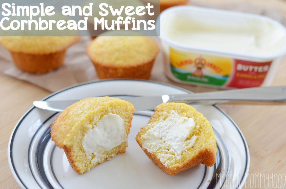 Simple and Sweet Cornbread Muffin Recipe - perfect amount of sweetness and made with honey too!