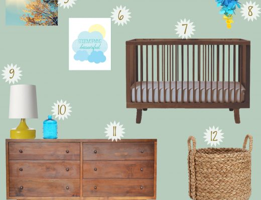 Hello Sunshine Gender Neutral Nursery Board @ModernMommyhood