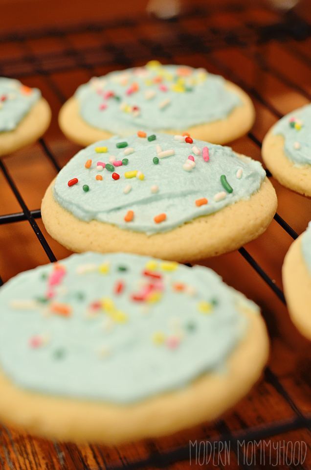 Soft and Fluffy Sugar Cookies - close copycat to storebought sugar cookies!