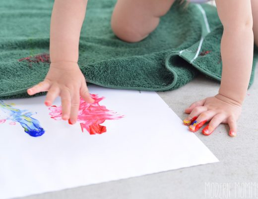 toddler finger painting fun
