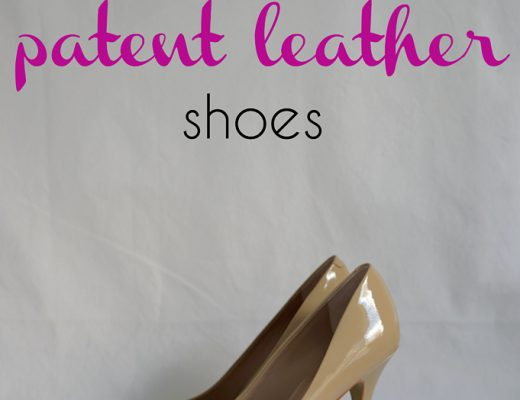how to care/get scratches out of for patent leather || modernmommyhood.com