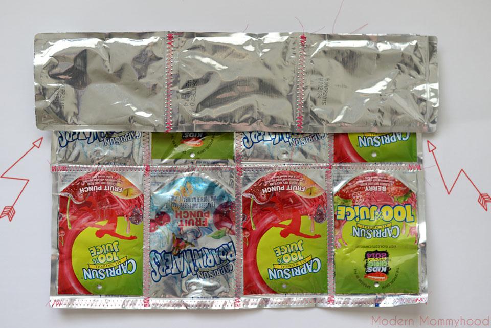 Capri Sun Juice Pouch Tote Bag Tutorial #CapriSunMomFactor - ModernMommyhood.com