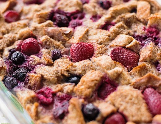 Berry Medley French Toast Bake Recipe - easy and healthy recipe that is sure to please everyone in the family.