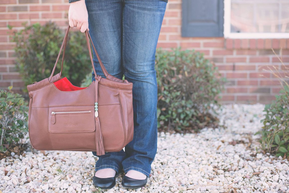 Lily Jade Review - Caroline Bag in Brandy - The diaper bag that doesn't look like one!