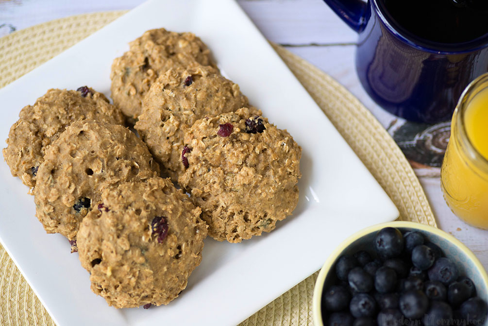 Soft Baked Breakfast Cookies - A simple recipe for a healthy and quick option for a filling breakfast!