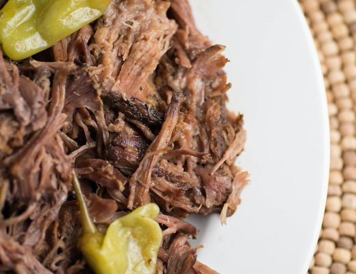 Slow Cooker Mississippi Pot Roast - The most juicy and flavorful roast you'll ever make! Plus it's one of the easiest slow cooker meals to prepare!