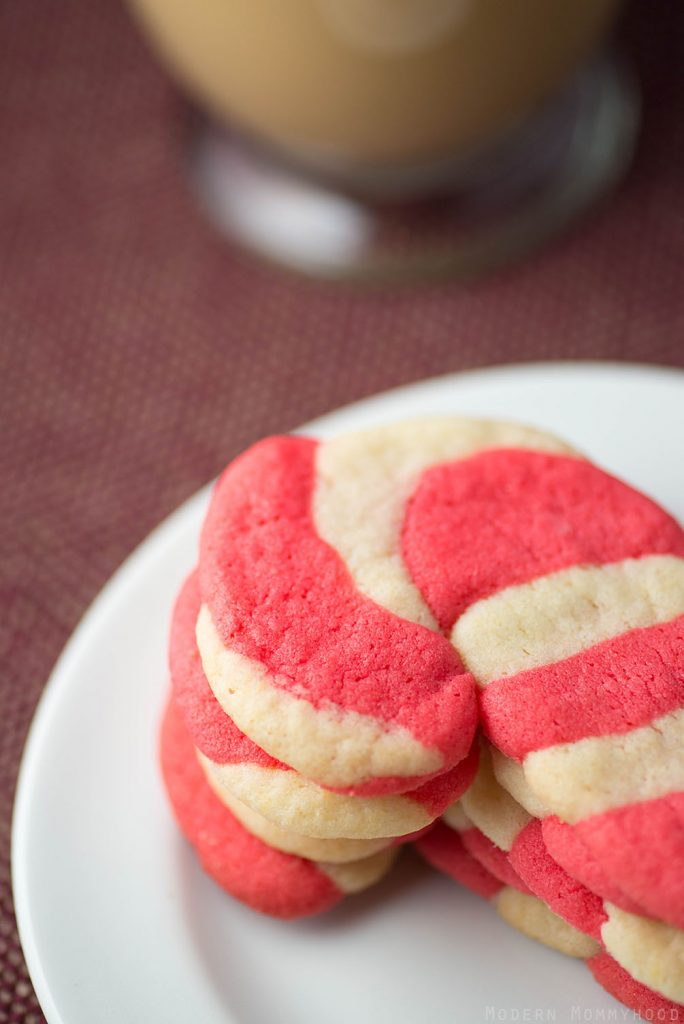 Easy Candy Cane Sugar Cookie Recipe - Betty Crocker mix + a little food coloring = deliciously simple holiday cookies!