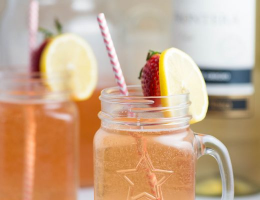 Lemon Berry Wine Spritzer - A refreshing combination of pinot grigio, strawberries and lemon lime soda.