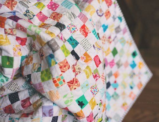Checkerboard Postage Stamp Quilt - a great quilt to use up your scrap stash!