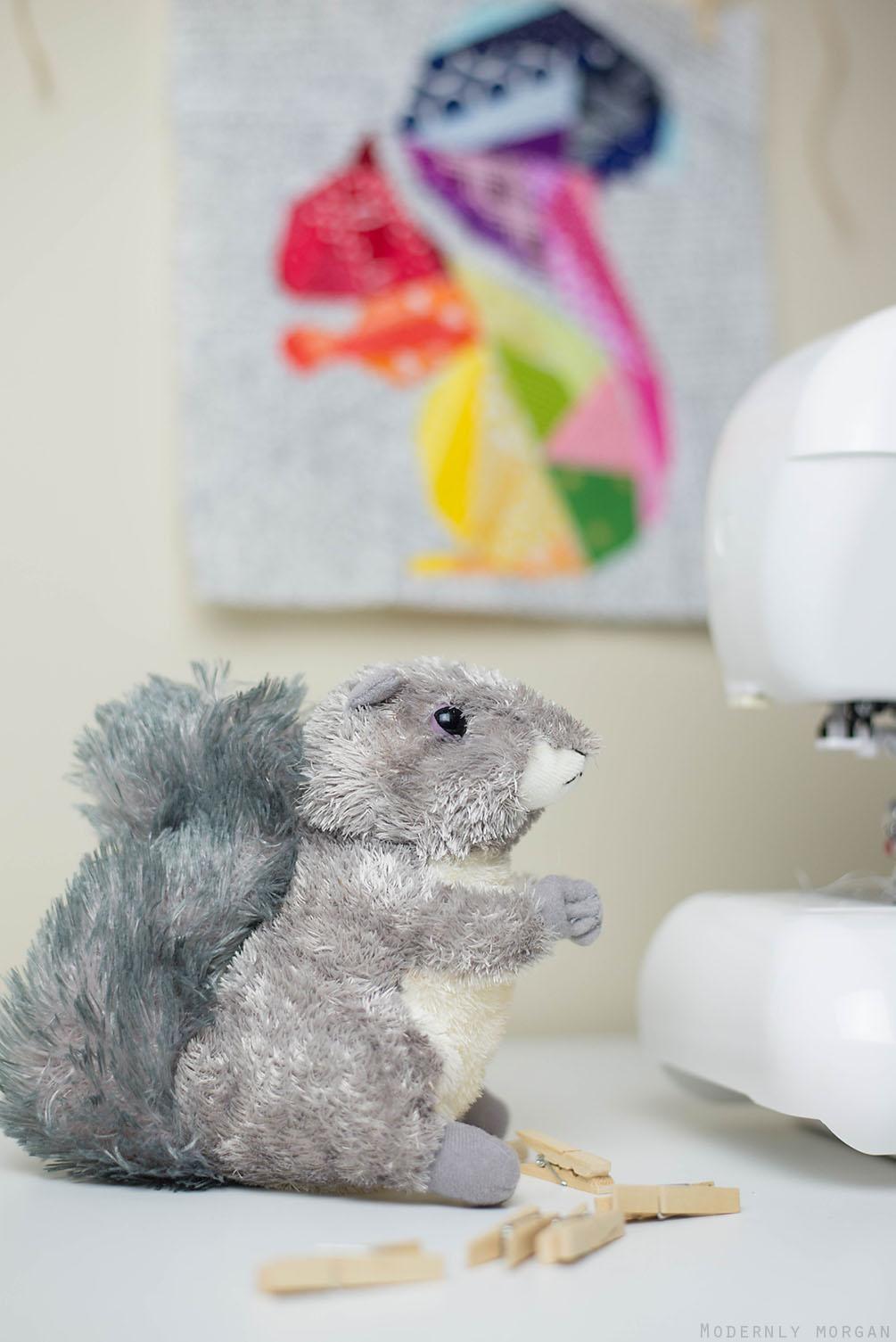 paper peiced block squirrel