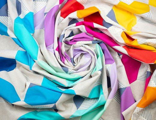 Rainbow Swirl of Fabric - Glitter and Glow Quilt