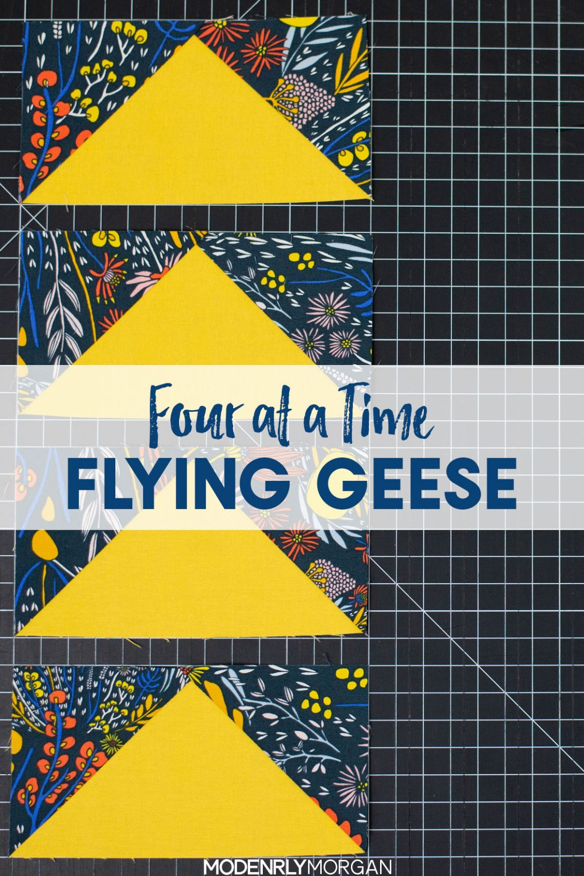 Four At A Time Flying Geese Tutorial - No Waste Method