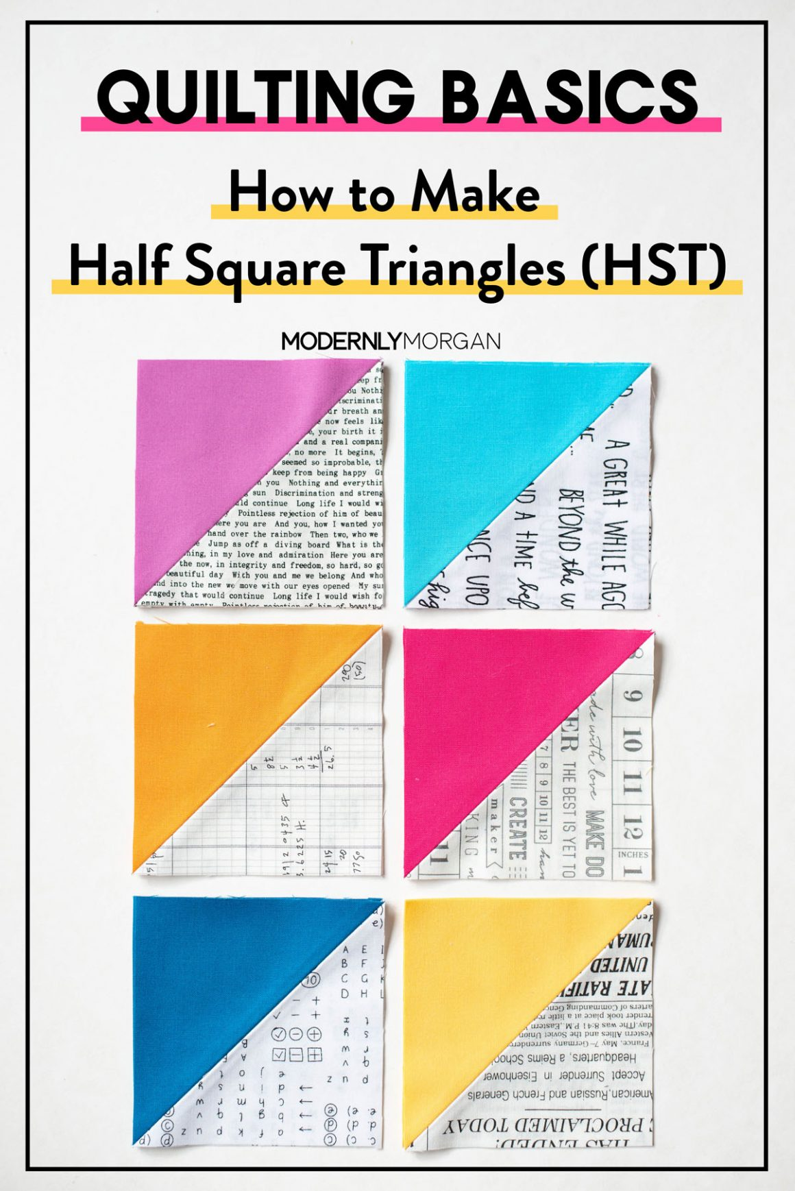 Quilting Basics - How to Make Half Square Triangles (HST) Tutorial