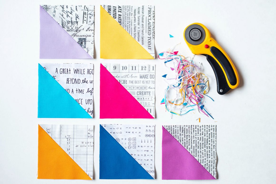 Quilting Basics: How To Make Half Square Triangles (HST) Tutorial