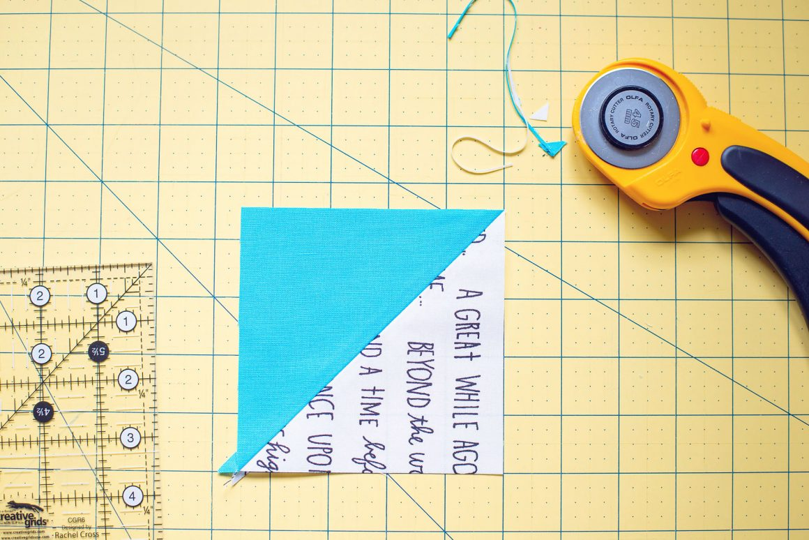 Quilting Basics: How to Square Up Half Square Triangles (HST) Tutorial for Perfect Points!