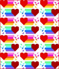 Rainbow Heart Quilt Pattern